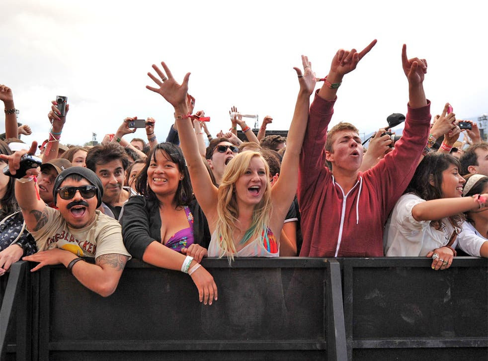 Price barrier: fans at a music festival