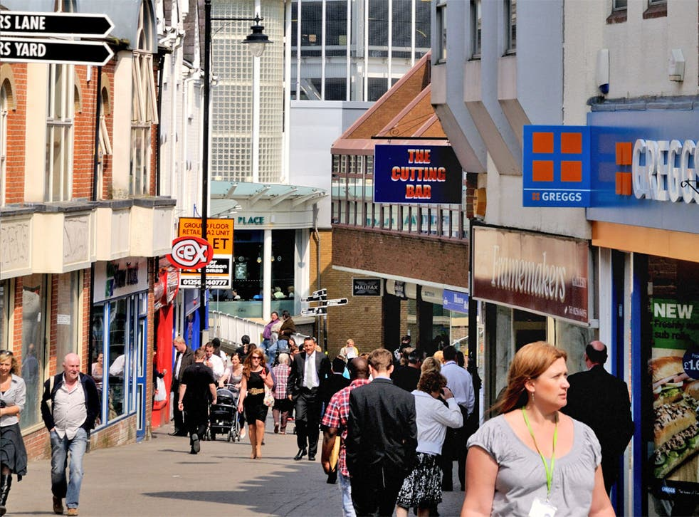 Basingstoke town centre, Hampshire