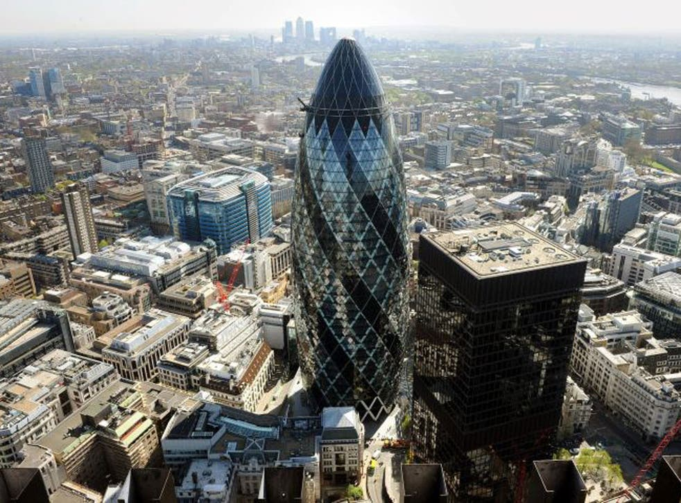 The Gherkin in the heart of the City