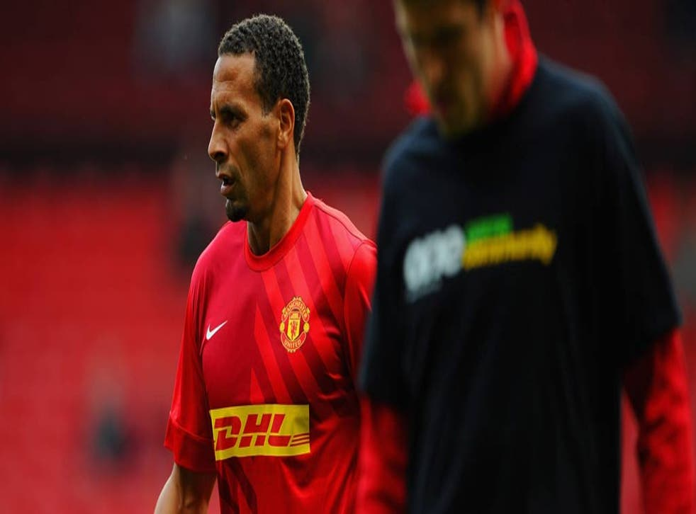 Rio Ferdinand opted not to wear a Kick It Out T-shirt