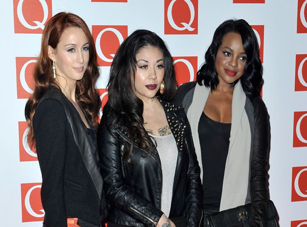 Siobhan Donaghy, Mutya Buena and Keisha Buchanan attend the Q Awards at the Grosvenor House Hotel on October 22, 2012