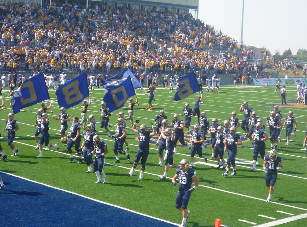 Montana State's football team The Bobcats have a little dance