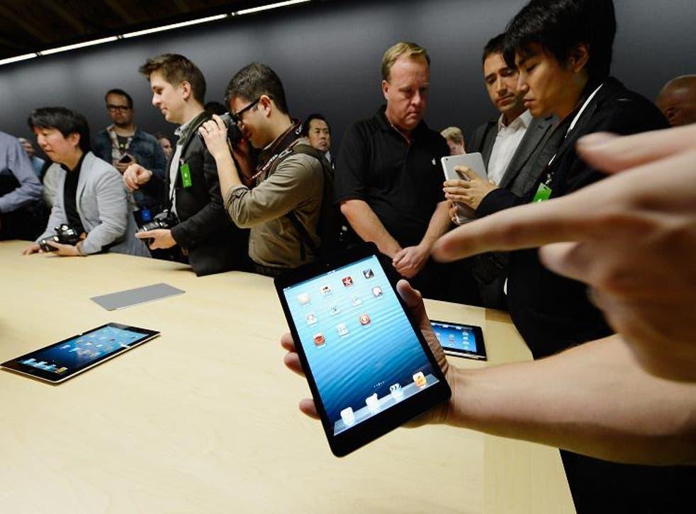 Apple said yesterday it sold three million units of its iPad mini