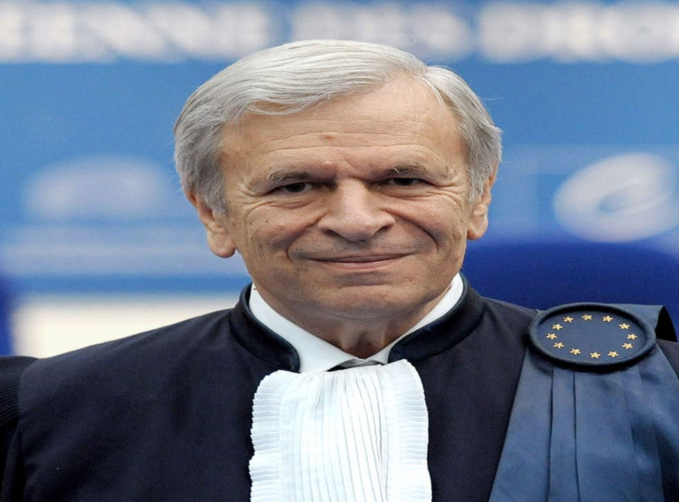 The outgoing president of the ECHR deplored Britain's attitude to the court