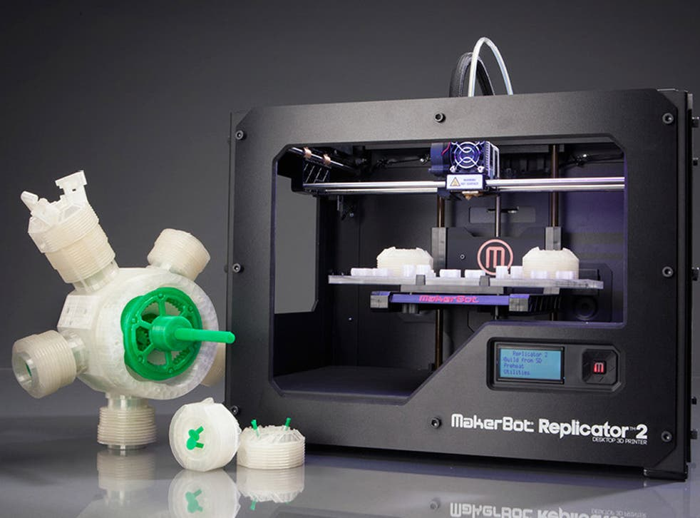 The machine: The 3D Printshow was a first chance for many to see Makerbot's new Replicator 2 device