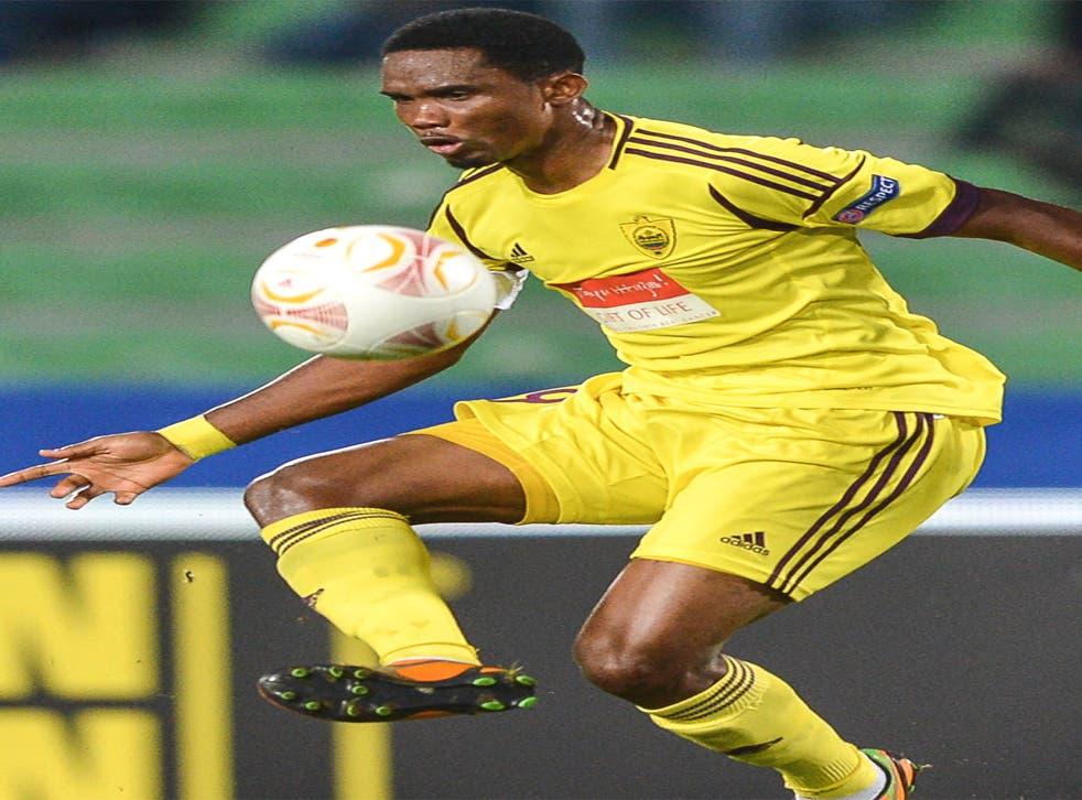 Anzhi's star striker, Samuel Eto'o
