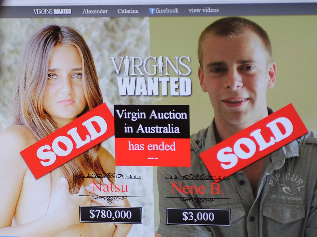 Female virginity sold