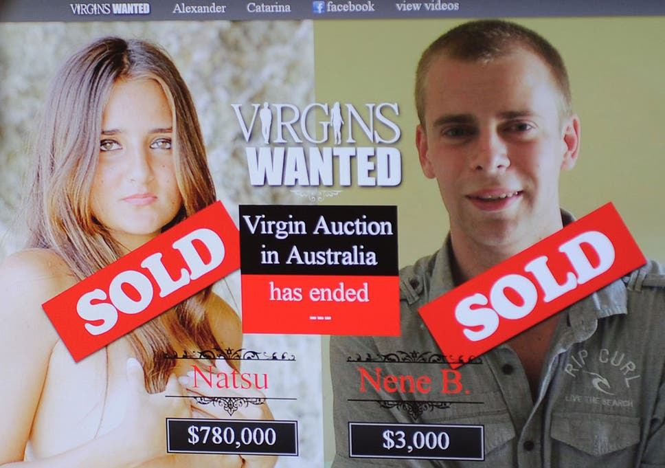 Virginity for sale homepage