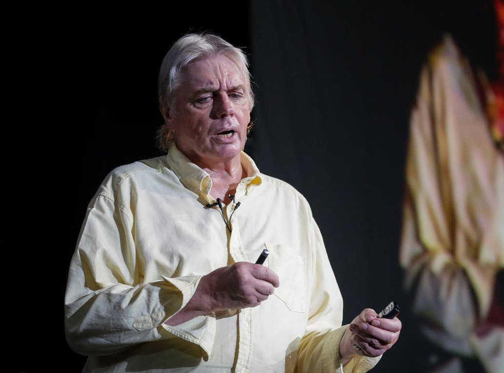 Spellbound: David Icke talked about Mick Jagger, among others, during his 11-hour show