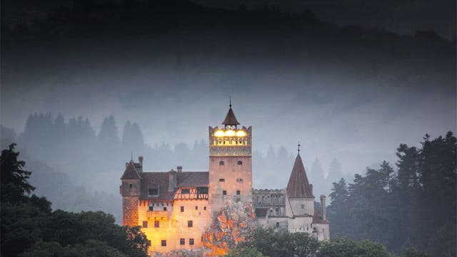 The imposing exterior of Bran Castle