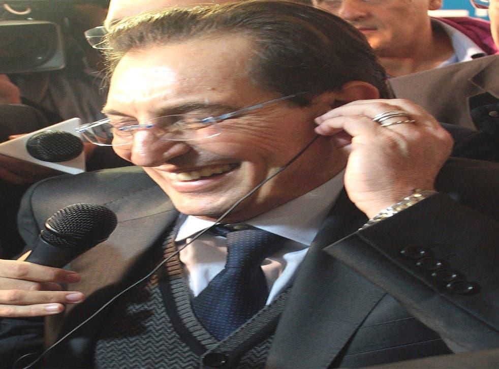 The openly gay, anti-mafia campaigner Rosario Crocetta took 31 per cent of the votes