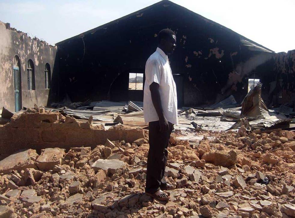 Crosses to bear: a church burnt down in 2010, in Jos, Nigeria