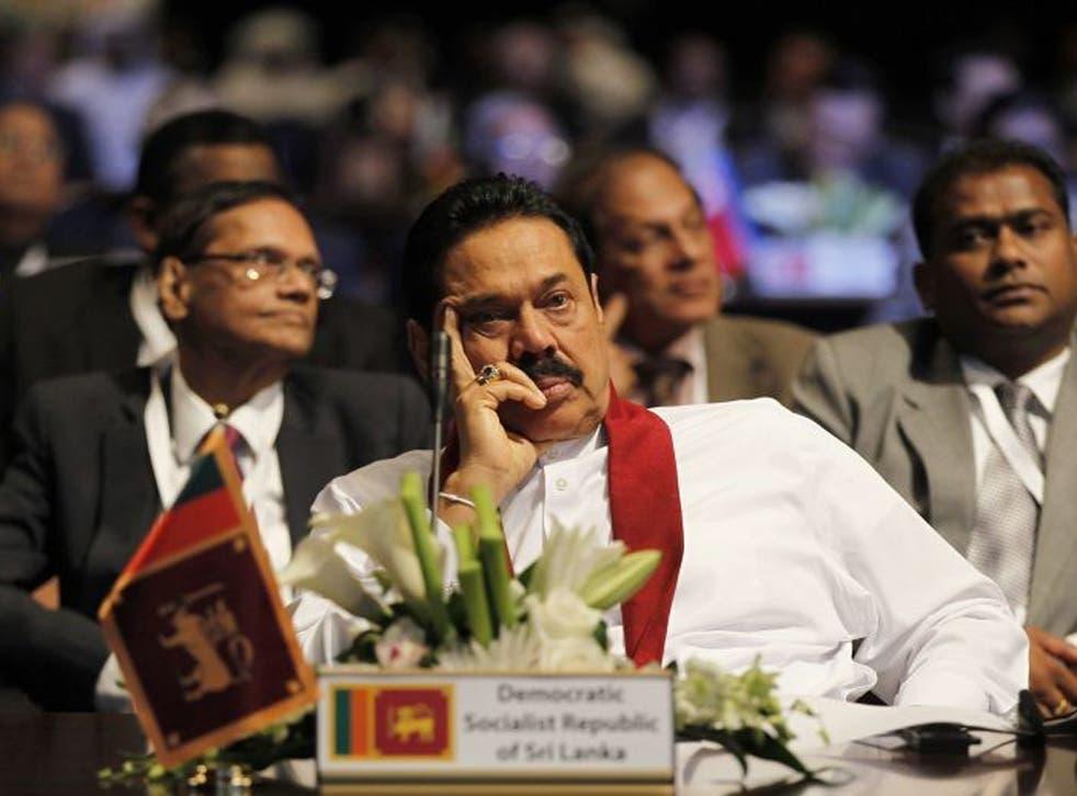 President Mahinda Rajapaksa has been accused of silencing his critics
