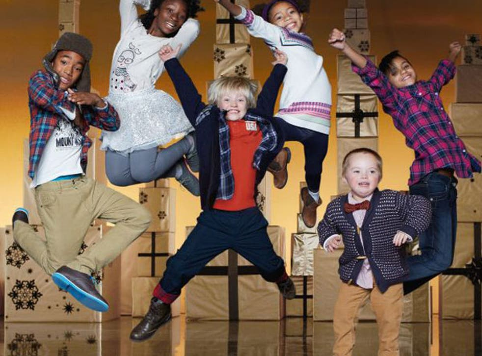 The 50-second commercial featuring Seb White (bottom right) will make history by becoming the first UK television ad from a major high street brand to feature a model with a learning disability, according to M&S