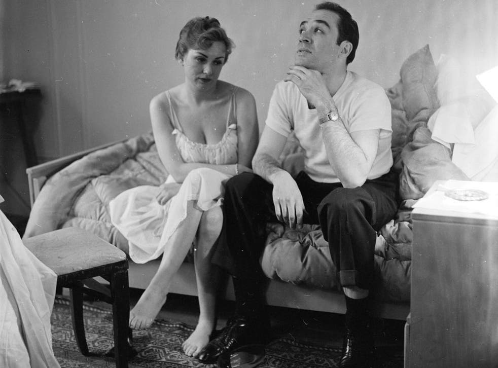 A married couple contemplating divorce. 1955.