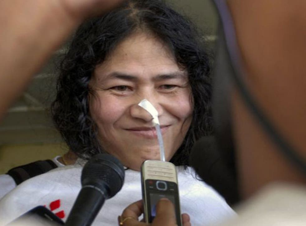 Indian hunger striker Irom Sharmila has completed 12 years without eating to protest actions of the armed forces in Manipur