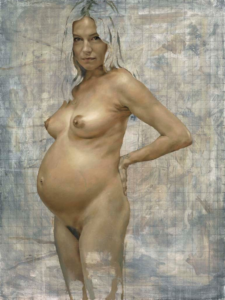 kate moss naked painting pregnant
