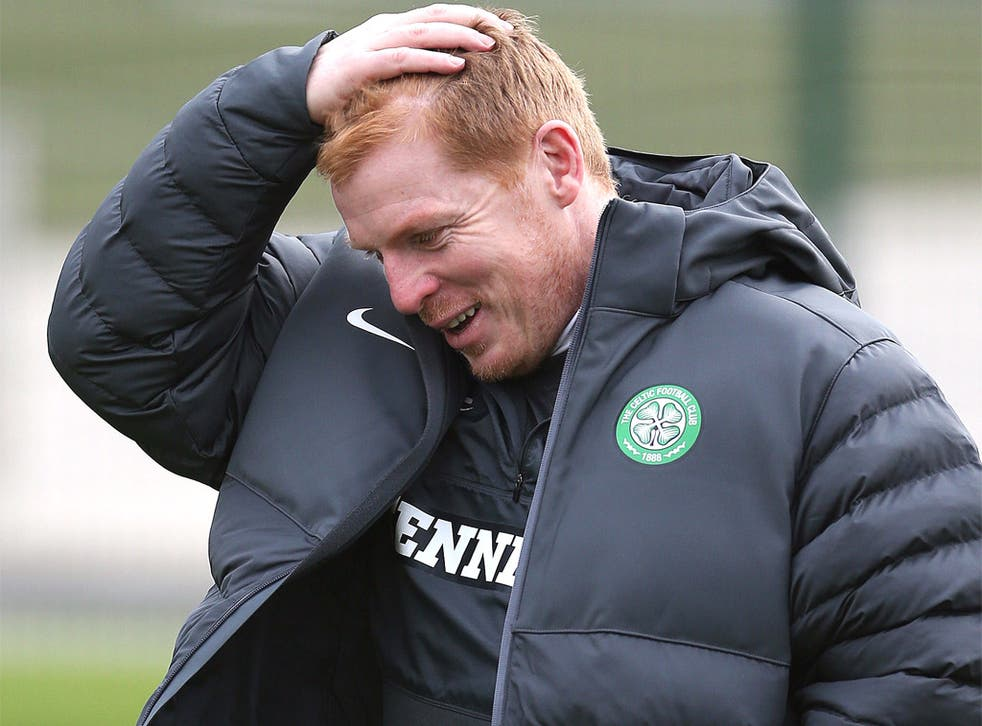 Neil Lennon was briefly flummoxed by a press question after training yesterday