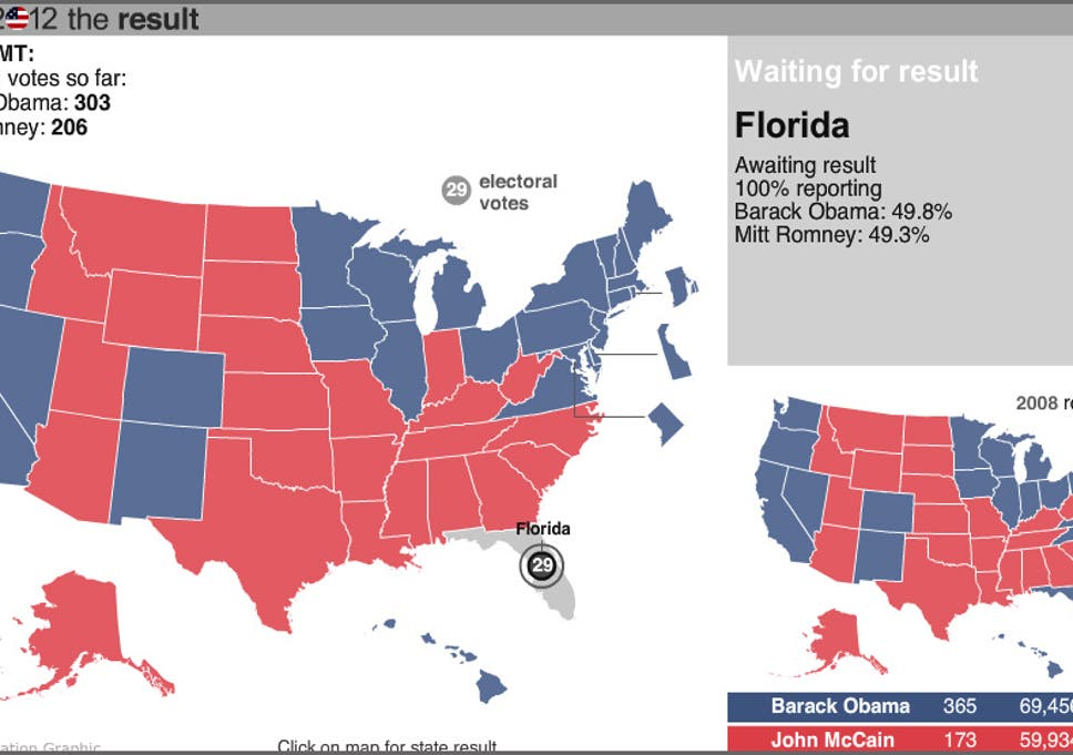 Why Florida Is Missing From The Results Map The Independent - Florida-us-map