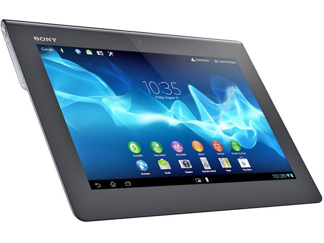 """<p>1. Sony Xperia Tablet S</p>  <p>This Android tablet has some of the snazziest styling available. It's thicker on one side than on the other, to make it rest more easily in the hand when you're reading an ebook, say. It's fast and powerful, and even runs PlayStation games.</p>  <p>From £329, <a href=""""http://sony.co.uk"""" target=""""_blank"""">sony.co.uk</a></p>"""