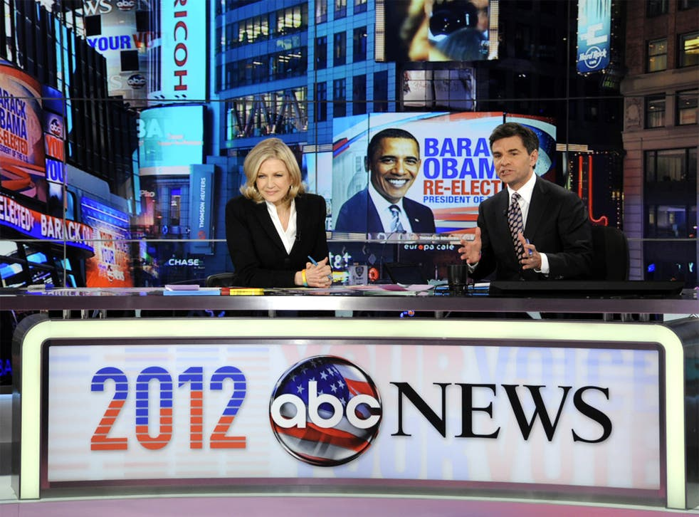 Diane Sawyer and George Stephanopoulos during ABC's election night coverage
