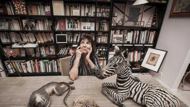 The right stripe: Sophie Calle in her Paris studio