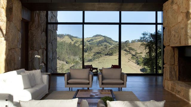 """<p><strong>Designs on Brazil</strong></p><p>Check into Botanique, a new intimate hotel in the Mantiqueira Mountains in south-eastern Brazil, built from stone, glass and slate, and decorated with contemporary design pieces (<a href=""""http://www.botanique.com.br"""" target=""""_blank"""">botanique.com.br</a>).</p>"""