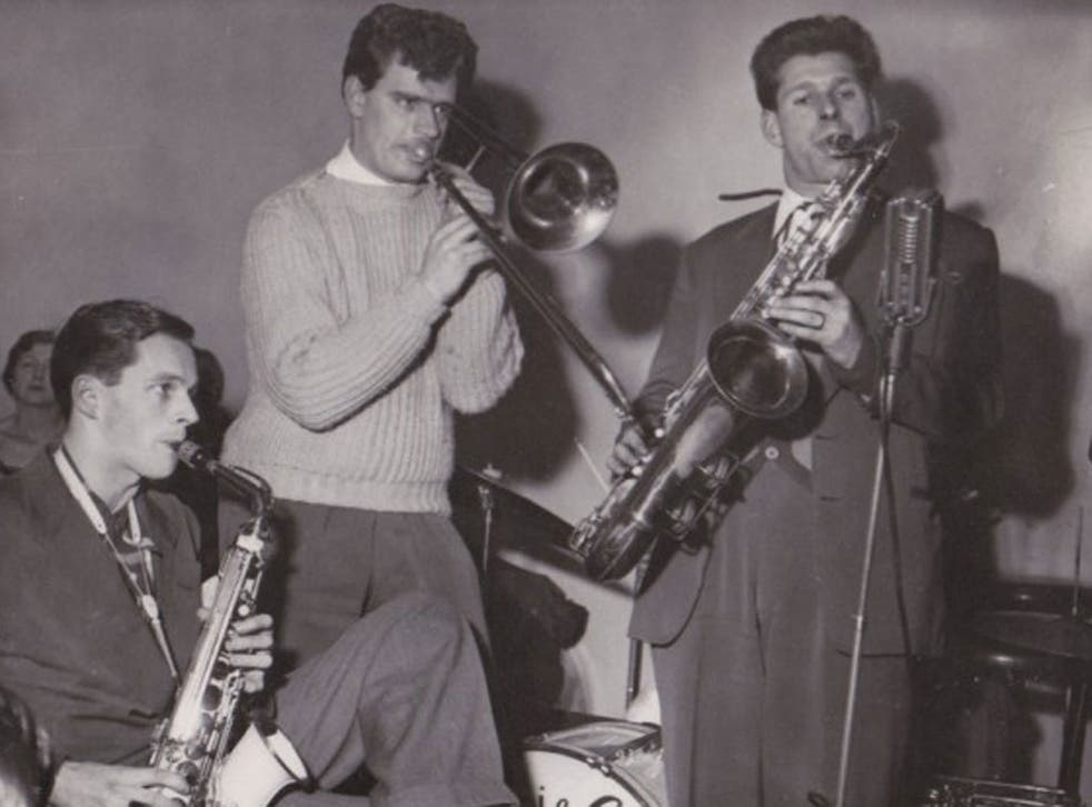 Three of the Johnny Dankworth Seven in 1951: from left, Dankworth, Harvey and Don Rendell