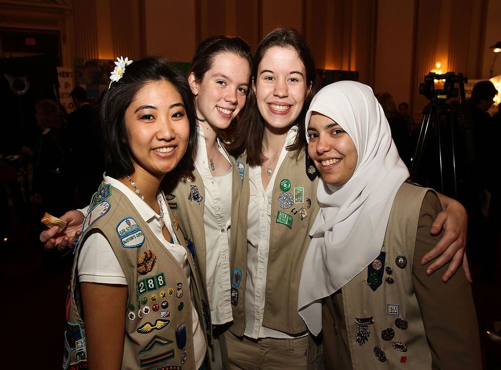 Girl Scouts attend Girl Scouts At 100 on February 1, 2012 in Washington, DC.
