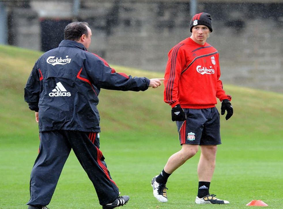 Benitez brought Torres to Liverpool from Atletico Madrid in the summer of 2007