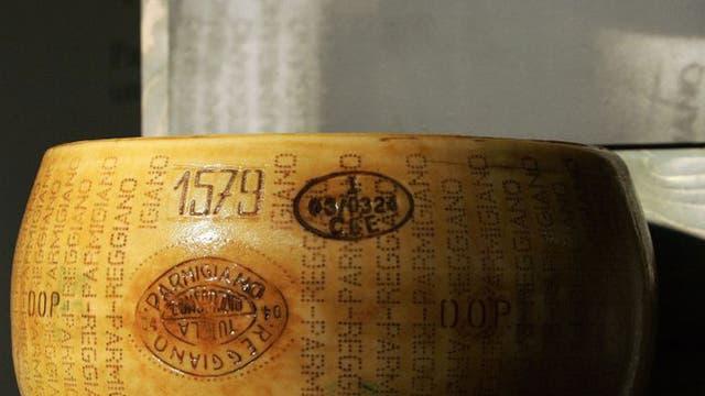 Hard cheese: a wheel of Parmigiano Reggiano