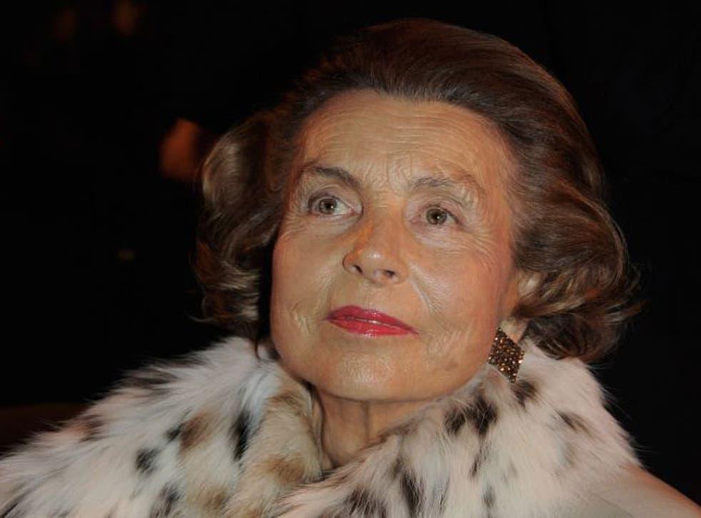 France's richest woman, Liliane Bettencourt, gave money to Mr Sarkozy
