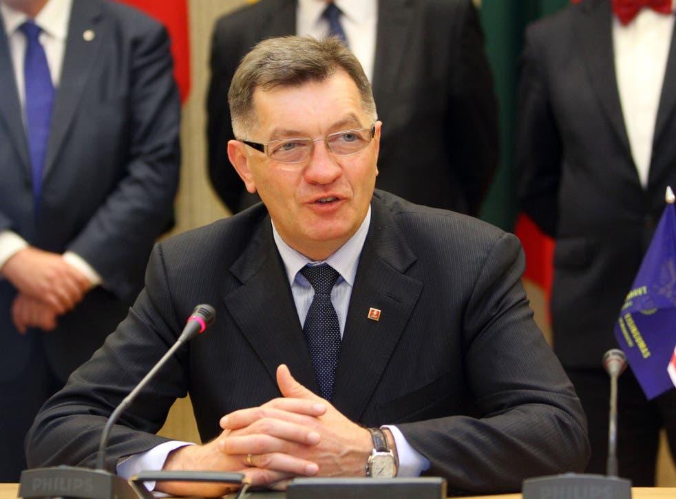 Lithuanian preim minster: Algirdas Butkevicius