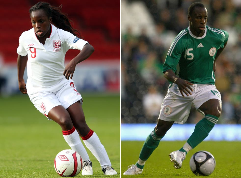 Brother bother: Eniola Aluko (left) helped Sone to leave financially stricken Rangers with her first class law degree