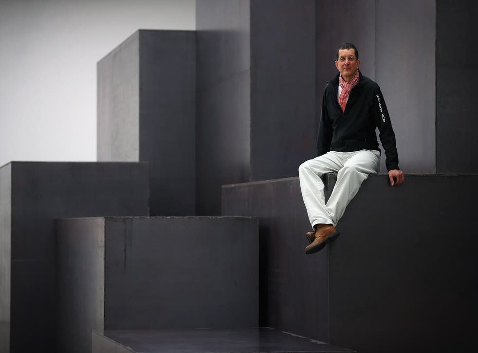 Antony Gormley atop 'Model'