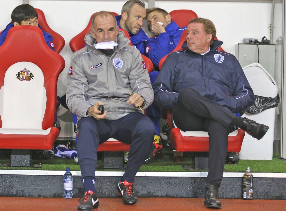 Harry Redknapp (right) with assistant Joe Jordan last night