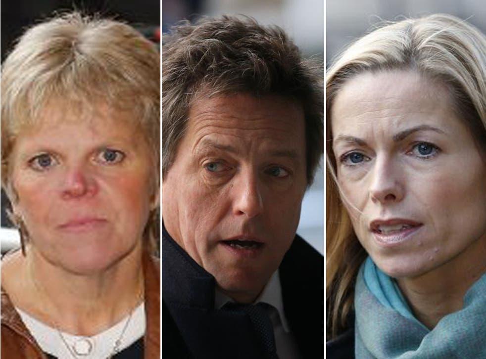 Sally Downler, Hugh Grant and Kate McCann