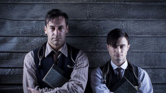 Doc Horror: Daniel (right) and Jon Hamm in A Young Doctor's Notebook