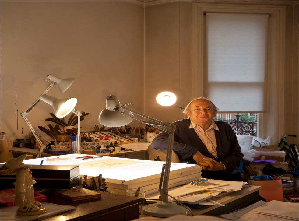 Art master: Quentin Blake in his studio in west London