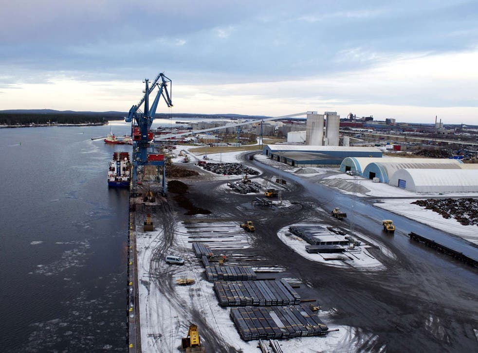 Digging deep: Lulea, Sweden, faces a £150m bill to keep its port in business