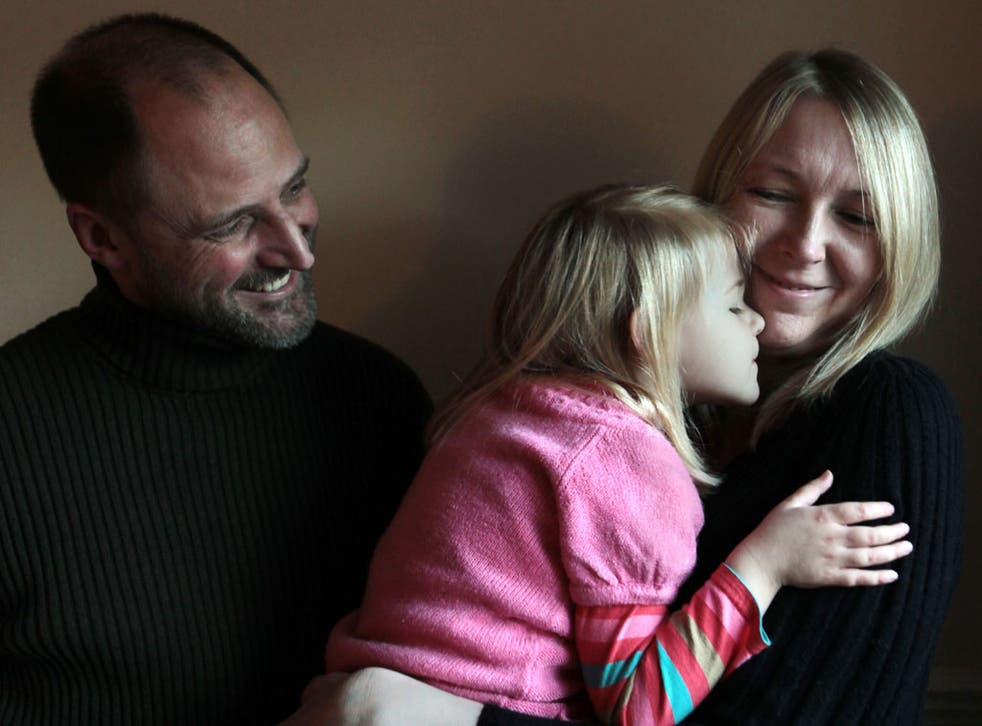 Survivor: Simon Beale, Debbie Bolton and their daughter Ellie, who needed a heart transplant