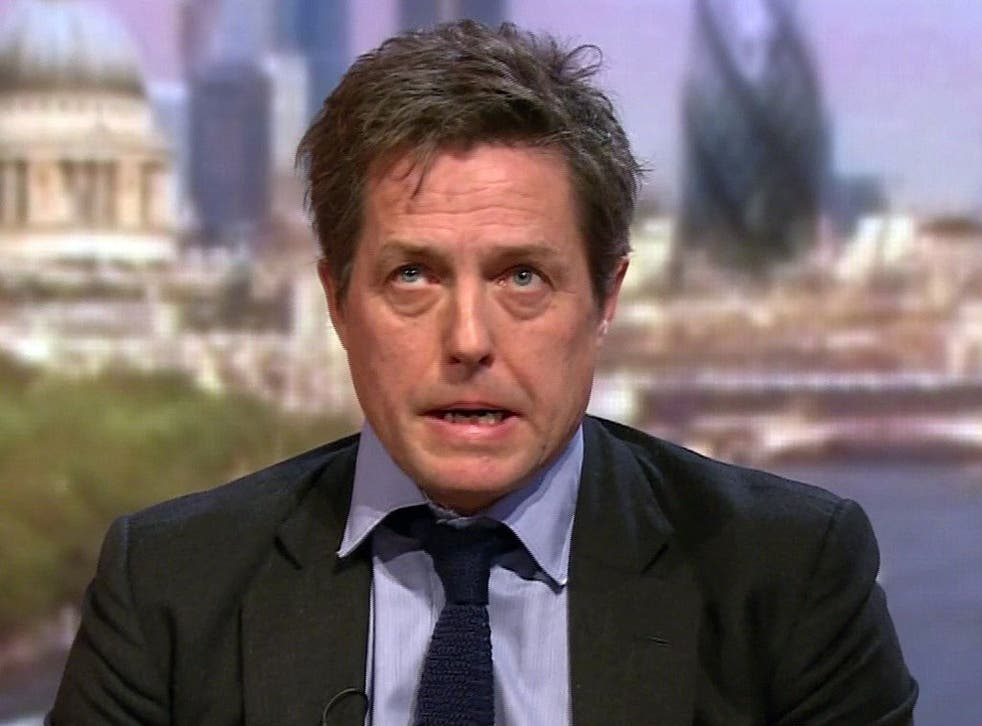Hugh Grant said the report was at the 'mild end of what everyone hoped for'