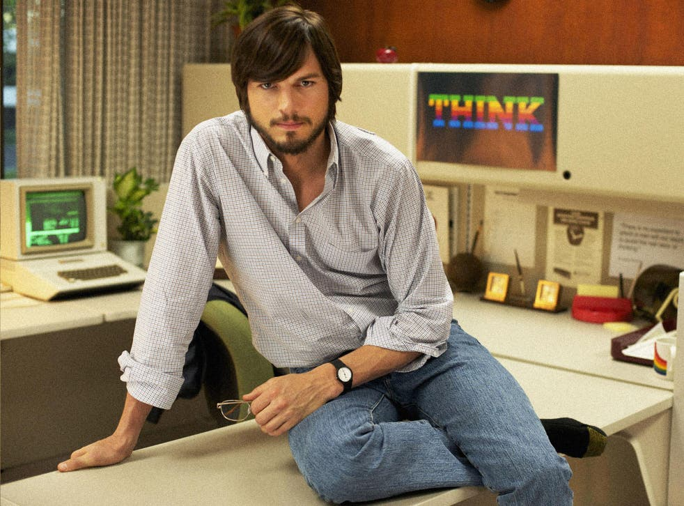 Ashton Kutcher as Steve Jobs in the forthcoming biopic about the Apple boss