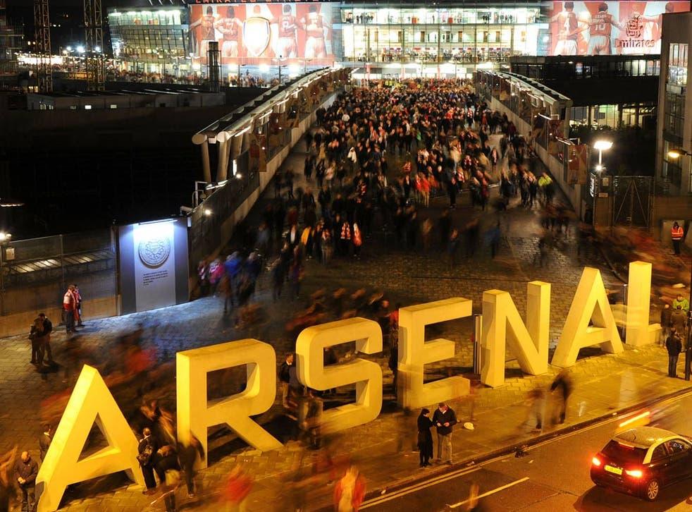A view outside Arsenal's Emirates Stadium