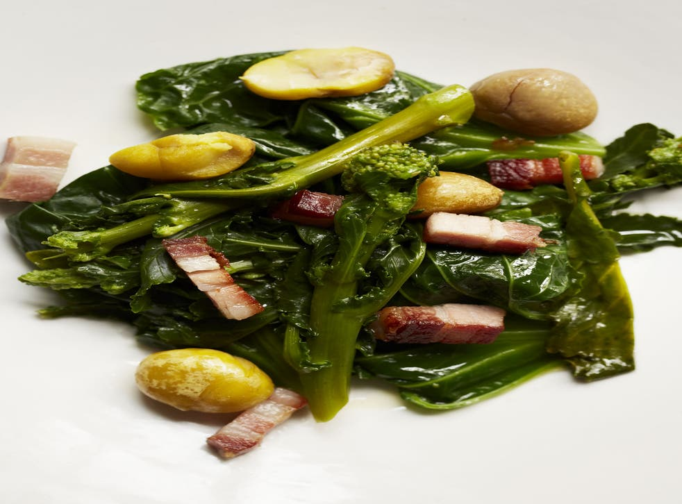Greens and chestnuts