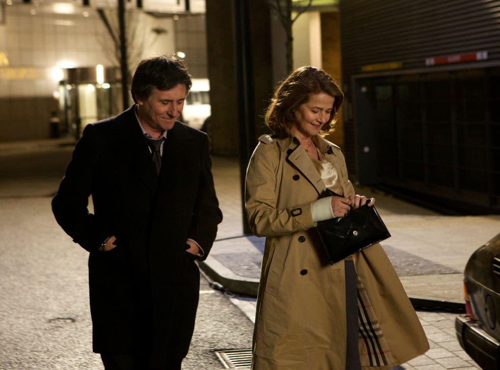 Suspects and the city: Gabriel Byrne's detective becomes involved with Charlotte Rampling in the London-set 'I, Anna'