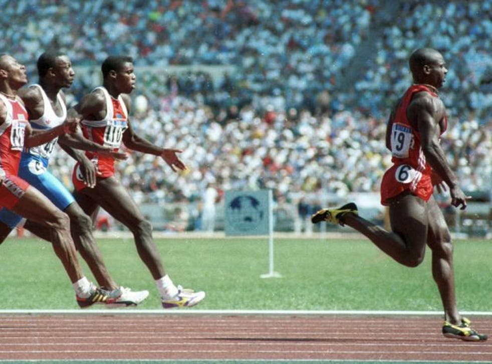 Injection of pace: Sprinter Ben Johnson wins the gold medal in the 100m sprint in Seoul in this September 1988