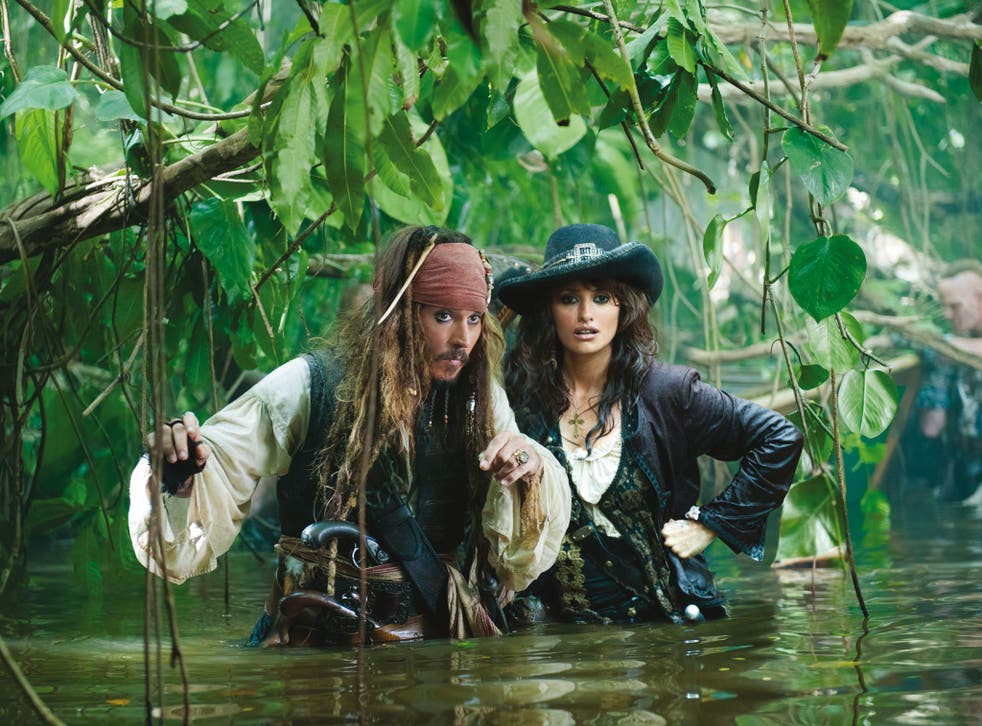Johnny Depp stars as Captain Jack in Pirates of the Caribbean