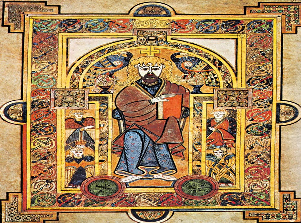 Enigmas of ancient art: Page from the Book of Kells