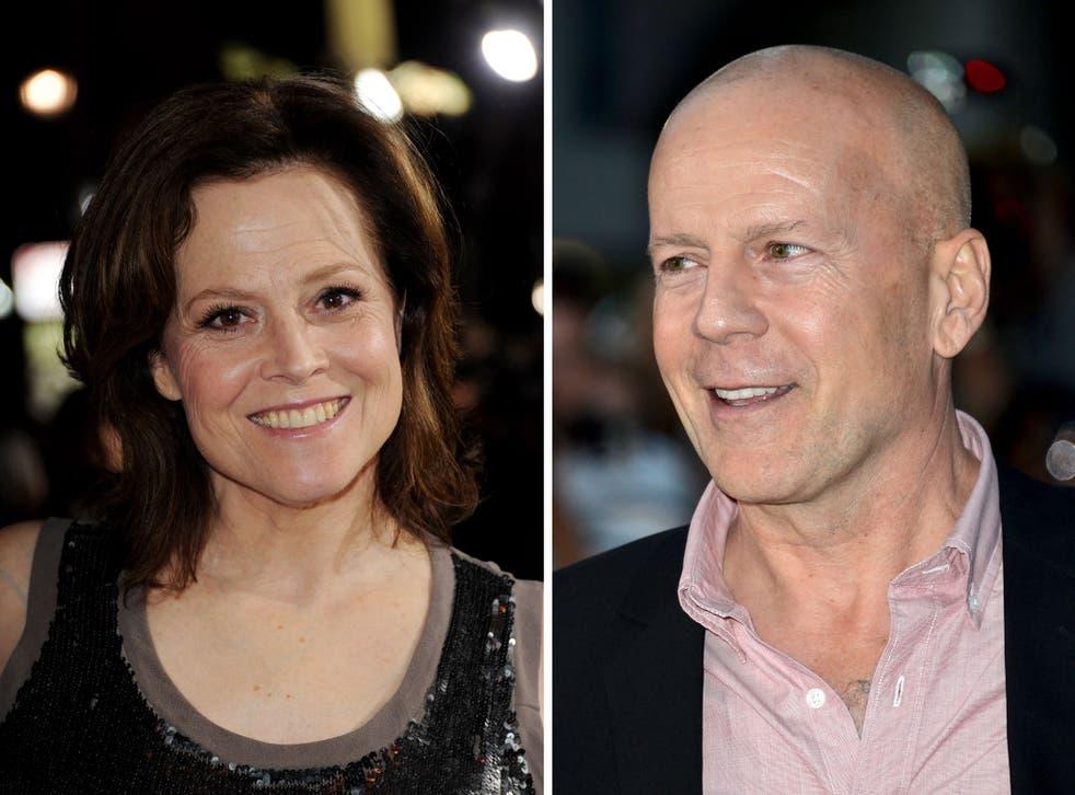 Sigourney Weaver and Bruce Willis